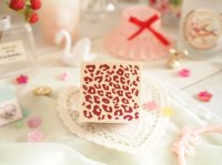 Leopard Pattern Wood Mounted Rubber Stamp From Cui