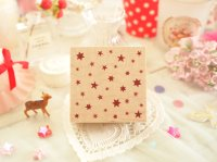 Star Pattern Wood Mounted Rubber Stamp From Cui
