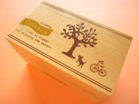 11 pcs Mini Rubber Stamps Collection in Wooden Box Set *Country
