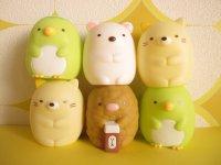 6 pcs Kawaii Cute Mini Dolls Set San-x *Sumikkogurashi