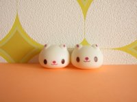 2 pcs Kawaii Cute Usadango Tiny Bunny Mascot Dolls Set *White
