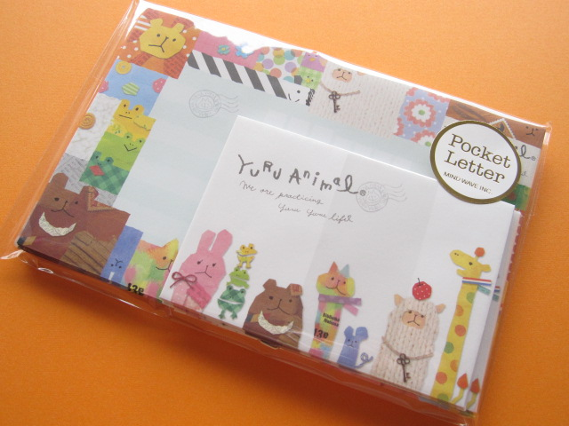 kawaii cute mini letter set mind wave yuru animal 38130