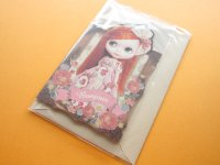 Kawaii Cute Blythe Greeting Message Card *Bonjour