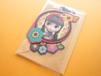 Kawaii Cute Blythe Greeting Message Card *Akai Ribbon