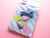 Kawaii Cute Omamori Seal Sticker Flakes Sack with Charm Mind Wave *Fortune Studies (75565)