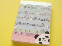 Kawaii Cute Mini Memo Pad Crux *COLLECTION OF PANDA (28712)