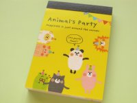 Kawaii Cute Mini Memo Pad Crux *Animal's Party (28560)