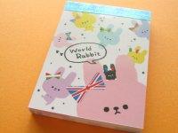 Kawaii Cute Mini Memo Pad Crux *World Rabbit (01862)