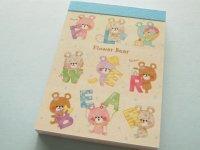 Kawaii Cute Mini Memo Pad Crux *Flower Bear (29024)