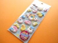 Kawaii Cute Puffy Stickers Sheet Crux *Hamu Hamu Friends (05038)