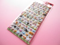Kawaii Cute Puffy Sticker Sheet Q-LiA *Petit Dog & Cat (91420)