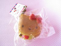 Kawaii Cute Hello Kitty Lovely Sweets Squishy Keychain Charm Sanrio *Pancake Lemon Cream