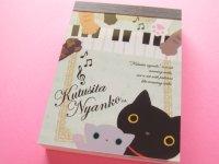 Kawaii Cute Mini Memo Pad San-x *Kutusita Nyanko 猫の演奏会 (MW06401-03)