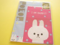 Kawaii Cute Letter Set Mind Wave * I am Rabbit vivid  (39912)