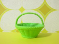 Miniature Plastic Basket *Green