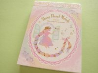 Kawaii Cute Mini Memo Pad Q-LiA *Shiny Floral Melidy (04513)