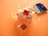 Cafe de N Squishy Keychain Charm Nic *Strawberry Sponge Cake Strawberry Cream (CDN09-2)