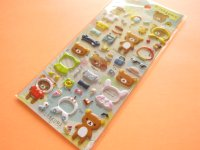 Kawaii Cute Puffy Sticker Sheet San-x *Rilakkuma (SE34502)