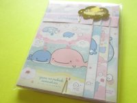 Kawaii Cute Regular Letter Set San-x Jinbesan *Maigo no Kokujira no Yume (LH66701)