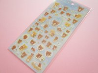 Kawaii Cute Sticker Sheet Rilakkuma San-x *Chairoikoguma and Starry Night (SE38701)
