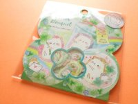 Kawaii Cute Sticker Flakes Sack Kamio Japan *Clover Bouquet (24547)