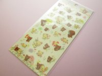 Kawaii Cute Sticker Sheet Rilakkuma San-x *Korilakkuma meets Chairoikoguma 3 (SE39302)
