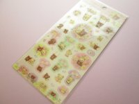 Kawaii Cute Sticker Sheet Rilakkuma San-x *Korilakkuma meets Chairoikoguma 3 (SE39301)