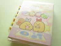 Kawaii Cute Patapata Mini Memo Pad Set Sumikkogurashi San-x *いっしょにおとまり会 (MW56801)