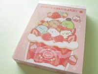 Kawaii Cute Mini Memo Pad Sumikkogurashi San-x *Strawberry Fair (MW58601-4)