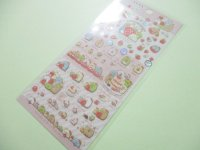 Kawaii Cute Sticker Sheet Sumikkogurashi San-x *Strawberry Fair (SE44001)