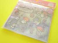 4pcs Kawaii Cute Little Twin Stars Medium Zipper Bags Set (ZBM-TSb)