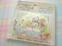 Kawaii Cute Sticker Flakes Sack Shirokuma & Friends Gaia *Shaved Ice (467048)
