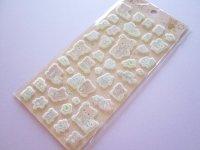 Kawaii Cute Puffy Stickers Sheet Rilakkuma San-x *Let's make a cute plushie together! (SE51502)