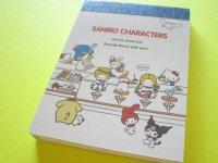 Kawaii Cute Mini Memo Pad Sanrio Characters Kamio Japan *Diner (202468)