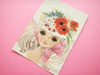 Japanese Retro Illustration Postcard Cute Girl Miyako *11