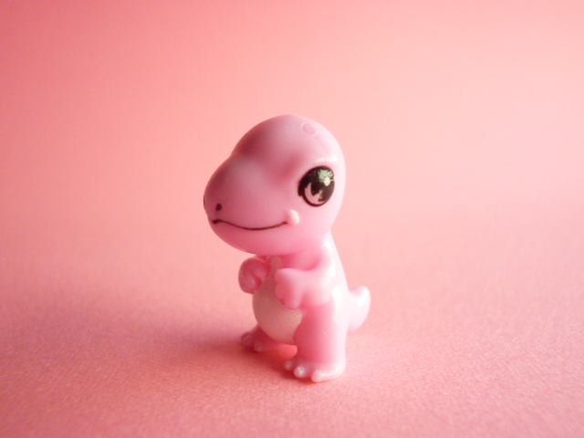 Photo1: Kawaii Cute Tiny Dinosaur Doll Figure Toy Collection *Pink
