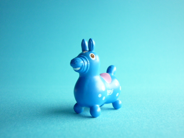 Photo1: Kawaii Cute Rody Tiny Figure Mascot Toy *Blue with Pink/Light Blue