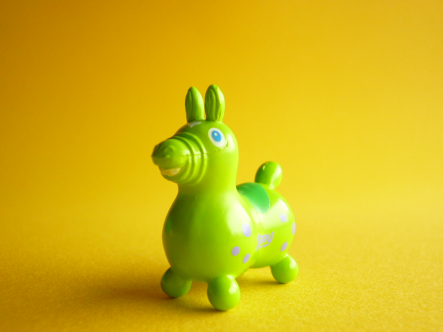 Photo1: Kawaii Cute Rody Tiny Figure Mascot Toy *Yellow Green with Green/Purple