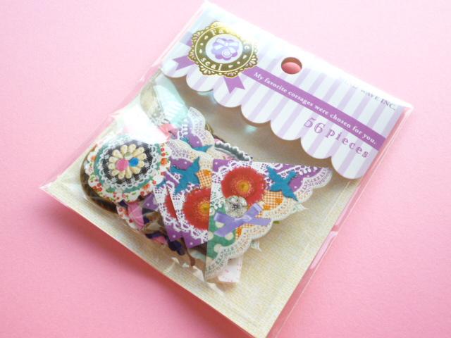 Photo1: Kawaii Cute Sticker Flakes Sack Favorite Corsages Mind Wave (73997)