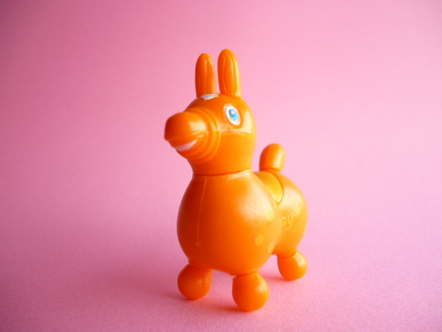 Photo1: Kawaii Cute Rody Mini Figure Mascot Assemble Toy *Orange with light orange