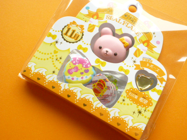 Photo1: Kawaii Cute Happy❤Birthday Sticker Flakes Sack Crux *November (75238)