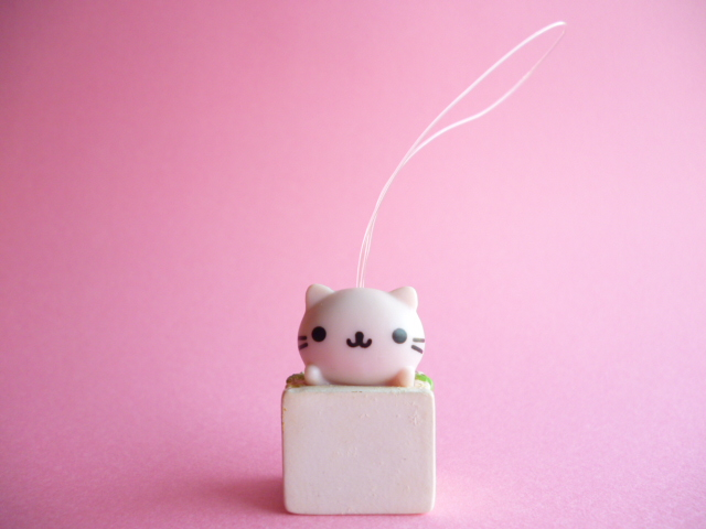 Photo1: Kawaii Cute Nyan Nyan Nyanko Strap San-x *Sandwich