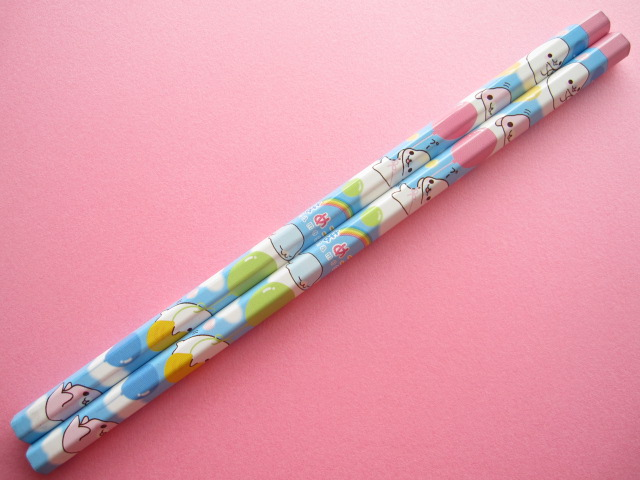 Photo1: 2 pcs Kawaii Cute Wooden Pencils Set Mamegoma Blue San-x