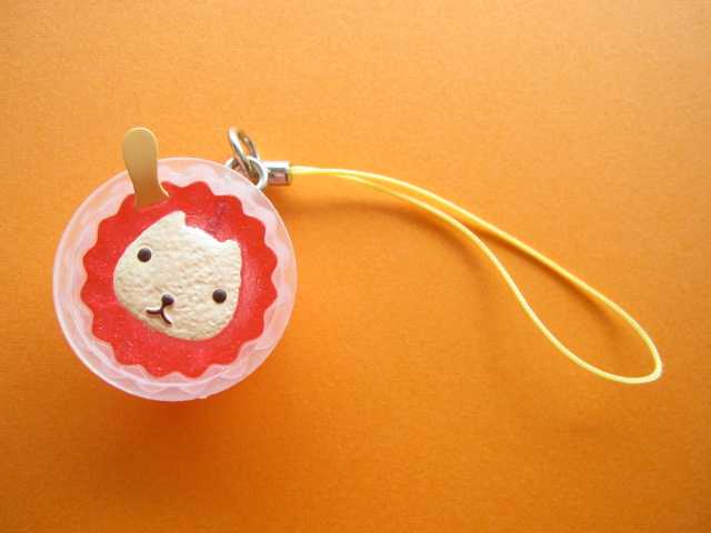 Photo1: Kawaii Cute Kapibarasan Ice Cream Strap Charm *Whitesan