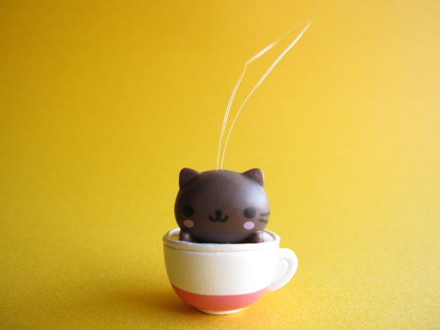 Photo1: Kawaii Cute Nyan Nyan Nyanko Strap San-x *Cappuccino