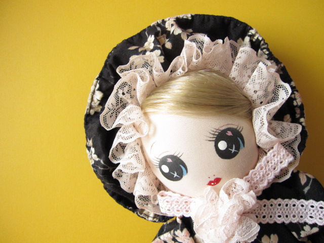 Photo1: Japanese Handmade Bunka Doll Cute Cloth Doll *Sakura