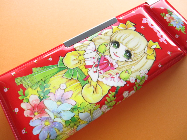 Photo1: Japanese Vintage Magnetic Pen/Pencil Case Box POLLY 1970s Red