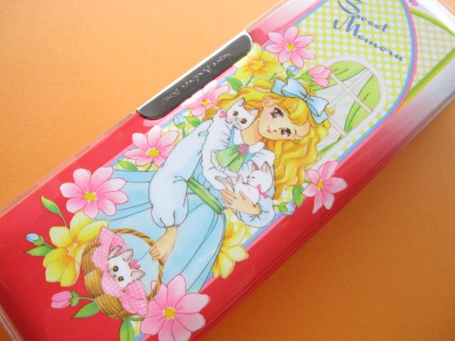 Photo1: Japanese Vintage Cute Girl Magnetic Pen/Pencil Case Box 1970s *Sweet Memoru