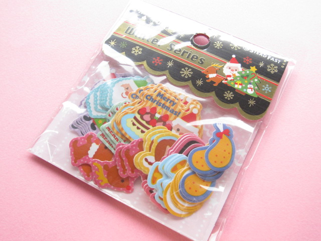 Photo1: Kawaii Cute Christmas Sticker Flakes Sack Stead Fast (7699)