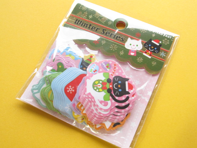 Photo1: Kawaii Cute Christmas Sticker Flakes Sack Stead Fast (7695)